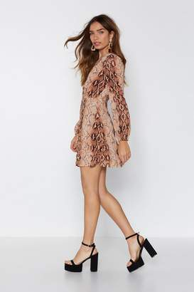 Nasty Gal Ladies Night Snake Print Dress