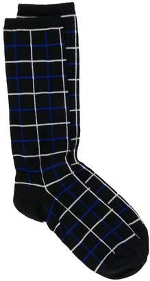 Haider Ackermann grid patterned socks