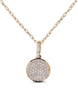 Cosanuova - Disc Diamond Pave Necklace 18k Rose Gold