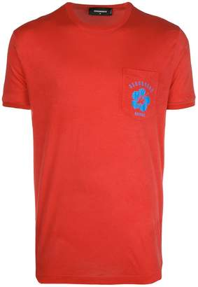 DSQUARED2 logo patch T-shirt