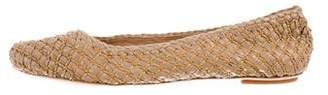 Salvatore Ferragamo Leather Woven Ballet Flats