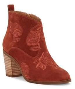 Lucky Brand Pexton Embroidered Ankle Boots
