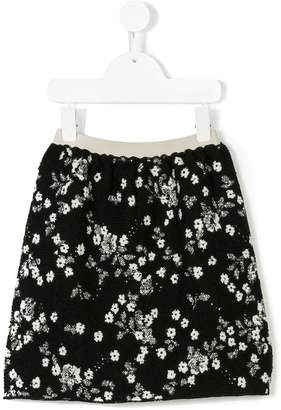 Douuod Kids floral print mini skirt