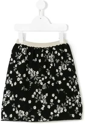 Douuod Kids floral print mini skirt