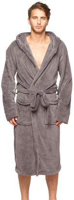 Wanted Mens New Micro Fleece Hooded Bathrobe by Large / X- large