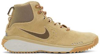 BEIGE Nike ACG ACG Angels Rest High-Top Sneakers