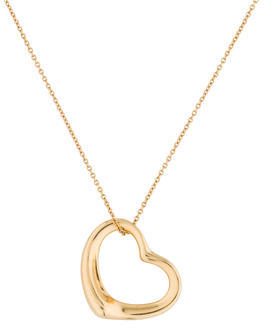 Tiffany & Co. 18K Open Heart Pendant Necklace $895 thestylecure.com