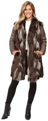Nic+Zoe Faux Fur Puffer Jacket Women's Coat