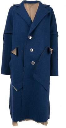 Sulvam deconstructed single-breasted coat