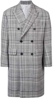 Calvin Klein double breasted check coat