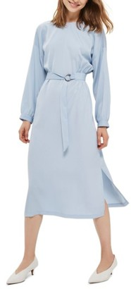 Women's Topshop Dusty Belted Midi Dress $90 thestylecure.com