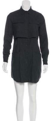 Billy Reid Flannel Mini Shirtdress