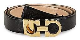Salvatore Ferragamo Women's Double Gancini Reversible Leather Belt