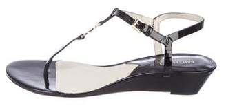 MICHAEL Michael Kors Patent Leather Thong Sandals