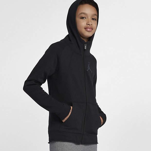 Jordan Sportswear Wings Lite Big Kids' (Boys') Full-Zip Hoodie