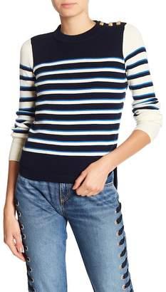 Veronica Beard Amos Wool Stripe Sweater