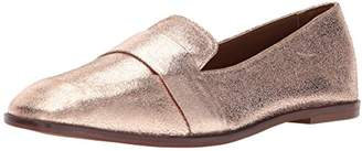 Kenneth Cole Reaction Women's Glide Slide Menswear Inspired Loafer with Square Toe Leather Upper Slip-On