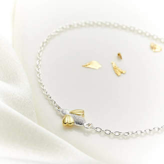 Molly Brown London Sterling Silver And Gold Vermeil Honey Bee Bracelet