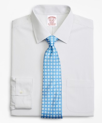 Brooks Brothers Stretch Madison Classic-Fit Dress Shirt, Non-Iron Stripe