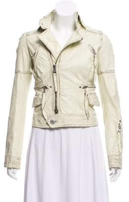 DSQUARED2 Leather Long Sleeve Jacket
