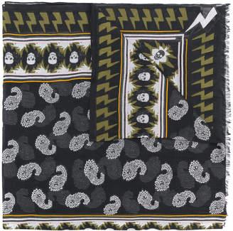 Zadig & Voltaire contrast print scarf