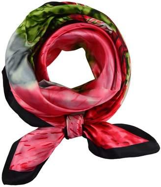 Generic Ladies' Silk Big Square Floral Print Scarf