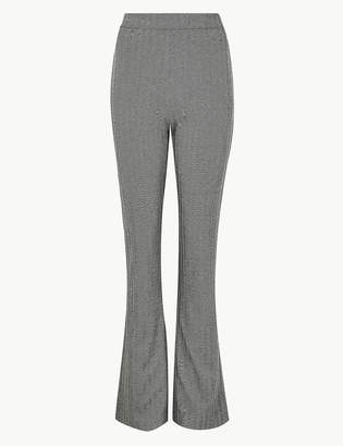 Marks and Spencer Herringbone Slim Boot Cut Trousers