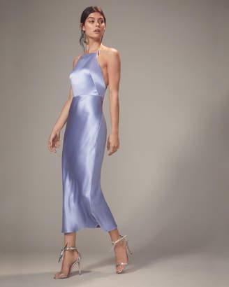 Jason Wu Lullaby Blue Satin Apron Dress