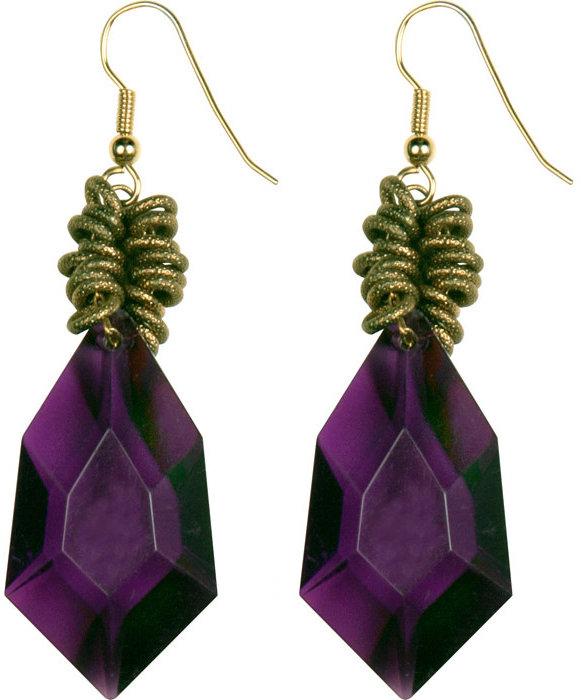 Purple Drop Earrings by Nicole Romano