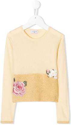 MonnaLisa floral embroidered sweater