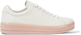 Prada - Leather Sneakers - White $485 thestylecure.com