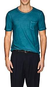 Massimo Alba Men's Watercolor-Effect Cotton Short-Sleeve T-Shirt-Blue