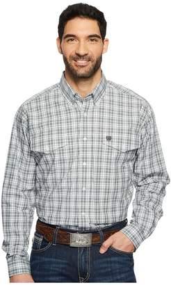 Cinch Long Sleeve Plain Weave Plaid Double Pocket Men's Long Sleeve Button Up