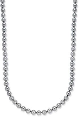 Charter Club Gray Imitation Pearl Strand Necklace