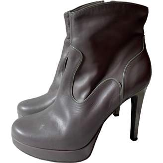 Free Lance Grey Leather Ankle boots