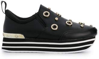 Versace embellished platform sneakers