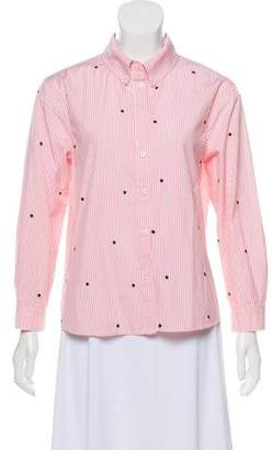 The Great Patterned Button-Up Top