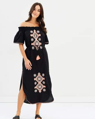 Seafolly Off-Shoulder Embroidered Dress