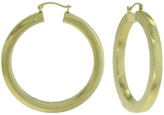 JCPenney FINE JEWELRY Prestige Gold 14K Yellow Gold Over Resin Square-Edge Hoop Earrings