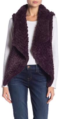 Bagatelle Faux Fur Draped Vest