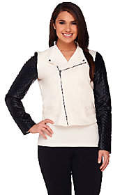 Walter View by Baker Jacket with Faux LeatherQuilted Sleeves