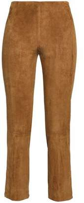 Vince Cropped Suede Slim-leg Pants