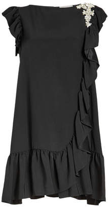 Christopher Kane Embellished Frill Sleeve Dress