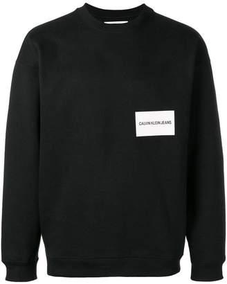 Calvin Klein Jeans logo stamp sweater