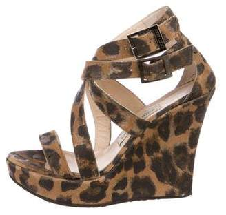 Jimmy Choo Printed Platform Wedges