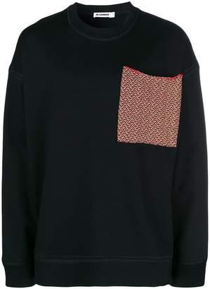 Jil Sander oversized chest pocket sweatshirt