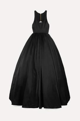 Brandon Maxwell Cutout Duchesse Silk-satin Gown - Black