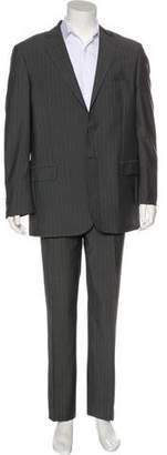 Saint Laurent Striped Wool Two-Piece Suit