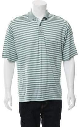 Burberry Golf Striped Polo Shirt