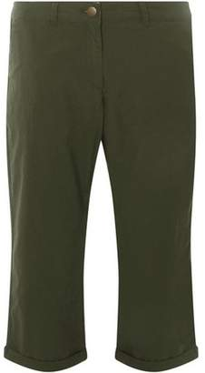 Dorothy Perkins Womens Khaki Cropped Trousers